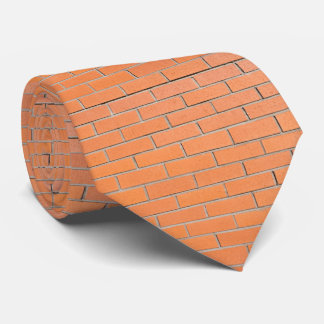 Brick wall pattern neck tie