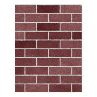 Brick wall pattern postcard