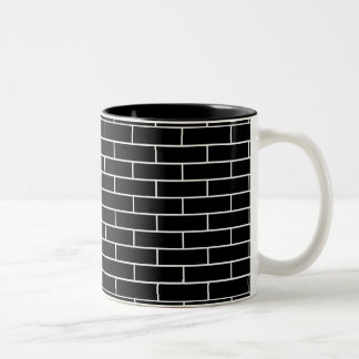 Brick Wall Pattern with your color brick. Two-Tone Coffee Mug