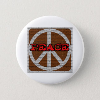 Brick Wall Peace Pinback Button