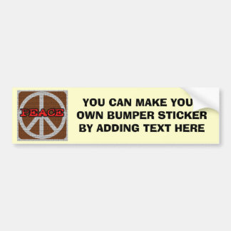 Brick Wall Peace T-shirts and Gifts Bumper Sticker