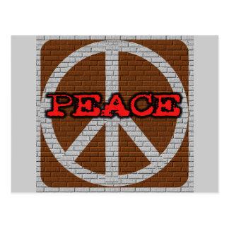 Brick Wall Peace Tshirts and Gifts Postcard