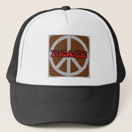 Brick Wall Peace Tshirts and Gifts Trucker Hat