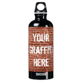Brick Wall Personalized Graffiti Aluminum Water Bottle