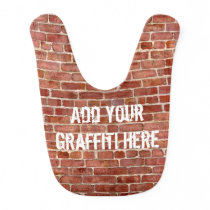 Brick Wall Personalized Graffiti Baby Bib