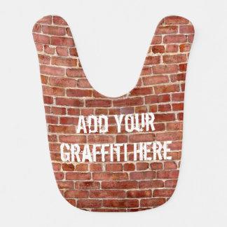 Brick Wall Personalized Graffiti Baby Bib