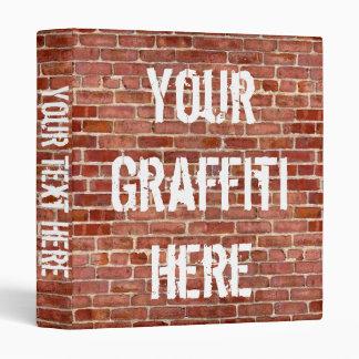 Brick Wall Personalized Graffiti Binder