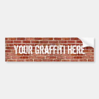 Brick Wall Personalized Graffiti Bumper Sticker
