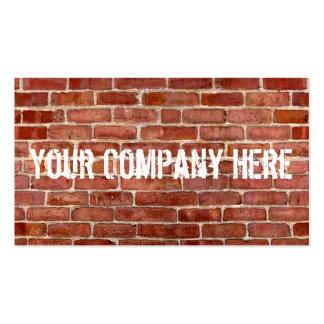 Brick Wall Personalized Graffiti Business Cards