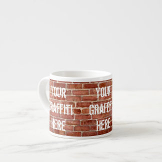Brick Wall Personalized Graffiti Espresso Cup