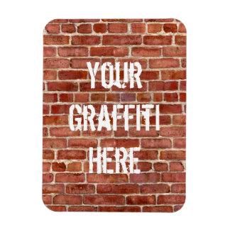 Brick Wall Personalized Graffiti flexible Magnet