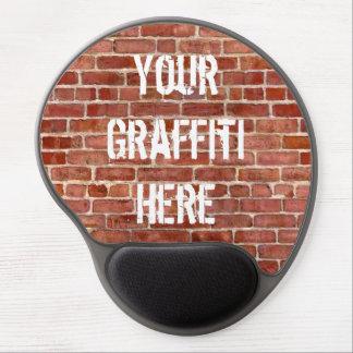 Brick Wall Personalized Graffiti Gel Mouse Pad