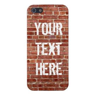 Brick Wall Personalized Graffiti iPhone SE/5/5s Cover