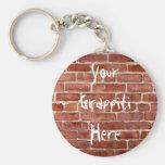 Brick Wall Personalized Graffiti Key Chain