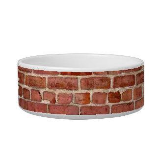 Brick Wall Personalized Graffiti Pet Bowl