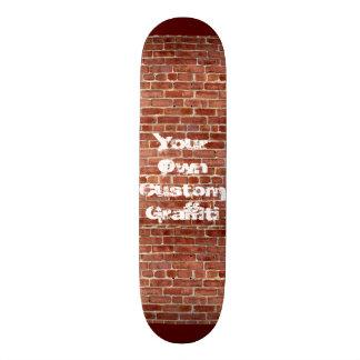 Brick Wall Personalized Graffiti Skateboard