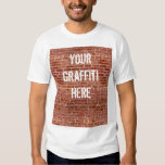 Brick Wall Personalized Graffiti T-Shirt