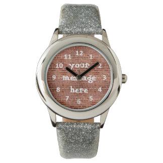 Brick Wall Personalized Graffiti Watch