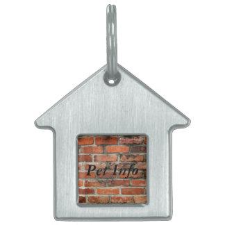 Brick Wall Pet ID Tag