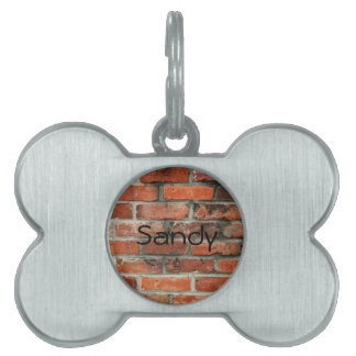 Brick Wall Pet Name Tag