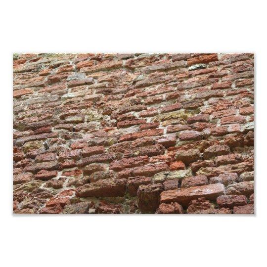 Brick wall photo print