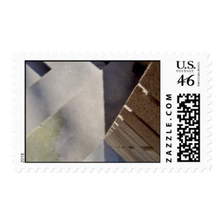 Brick wall postage stamp