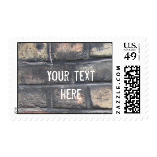 Brick wall postage stamps