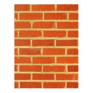Brick wall postcard
