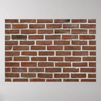 'Brick wall' poster