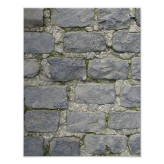 Brick Wall poster, customize Poster