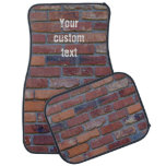 Brick wall - red mixed bricks and mortar car floor mat