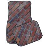 Brick wall - red mixed bricks and mortar car mat