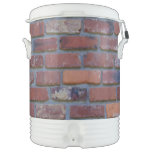 Brick wall - red mixed bricks and mortar cooler