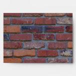 Brick wall - red mixed bricks and mortar envelope