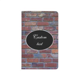 Brick wall - red mixed bricks and mortar journal