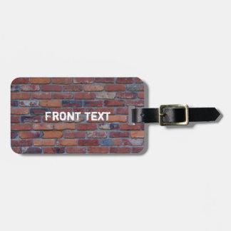Brick wall - red mixed bricks and mortar luggage tag