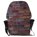 Brick wall - red mixed bricks and mortar messenger bag