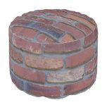Brick wall - red mixed bricks and mortar pouf