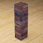 Brick wall - red mixed bricks and mortar wine box
