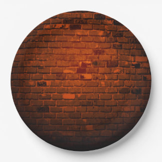 BRICK WALL 9 INCH PAPER PLATE
