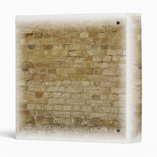 Brick Wall, simple design 3 Ring Binder