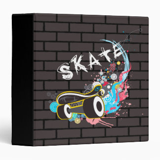 Brick Wall Skate Graffiti Logo With Board Binder