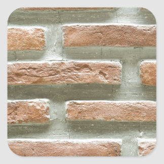 Brick wall square sticker