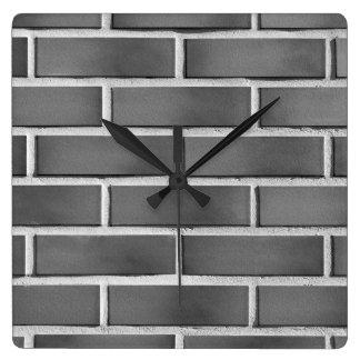Brick wall square wall clock