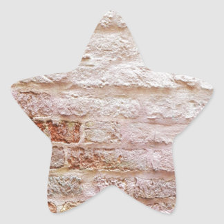 brick wall star sticker
