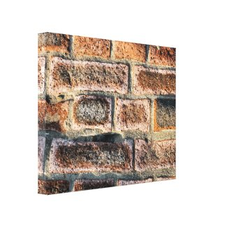 BRICK WALL STRETCHED CANVAS PRINT