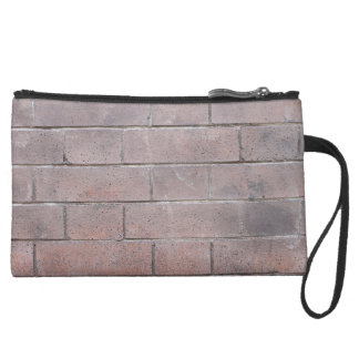 Brick Wall Suede Wristlet