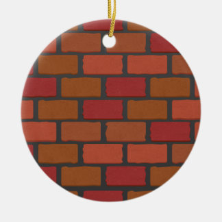 Brick wall texture ceramic ornament