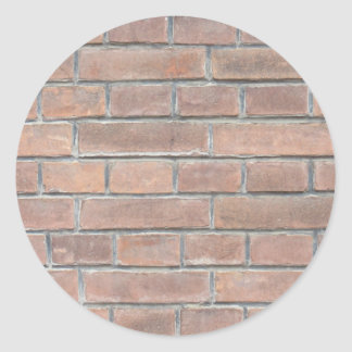 Brick wall texture classic round sticker
