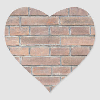 Brick wall texture heart sticker